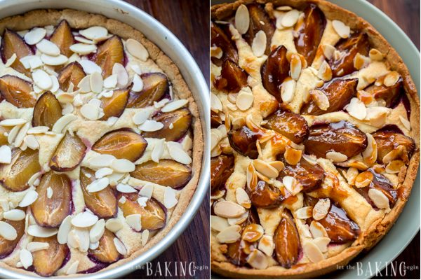 Almond Cream and Plum Tart - Gluten free dessert that's delicious and guilt free!  Let the Baking Begin!