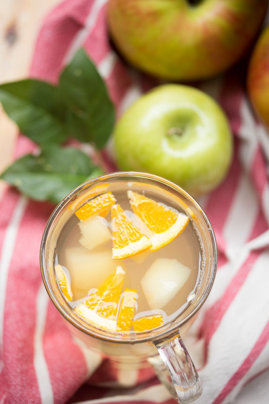 Fall Apple Drink or Apple Compote is a simple, yet satisfying way to enjoy apples! Made with just apples, lemon and sweetener this was our favorite drink growing up.