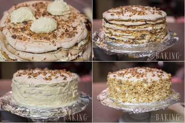 How to assemble this delicious shortbread meringue cake recipe.
