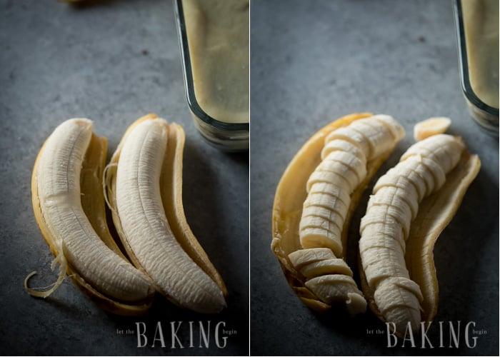 How to chop bananas.