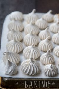 Meringue Cookies - Light and airy these cookies can be served as a light little dessert, or built into so many other cakes and desserts. Follow the simple photo step by step instructions to learn how! | By Let the Baking Begin!
