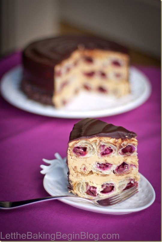 Honeycomb Cherry Cake