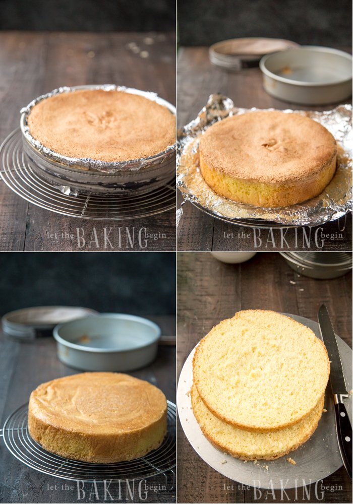 A basic yellow sponge cake recipe that is level, moist and perfect every time.