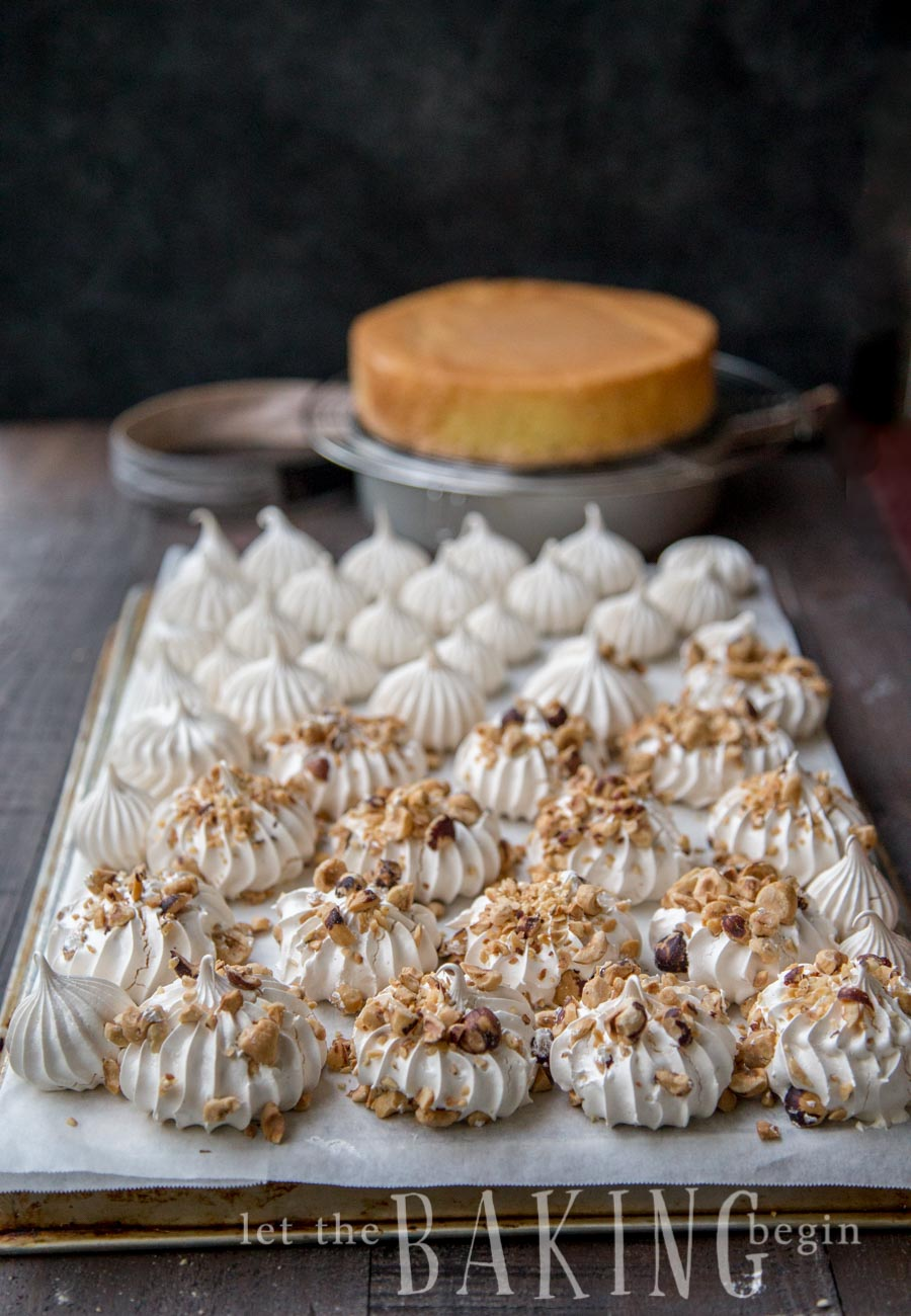 Sponge Cake With Cream And Pastry In The Middle