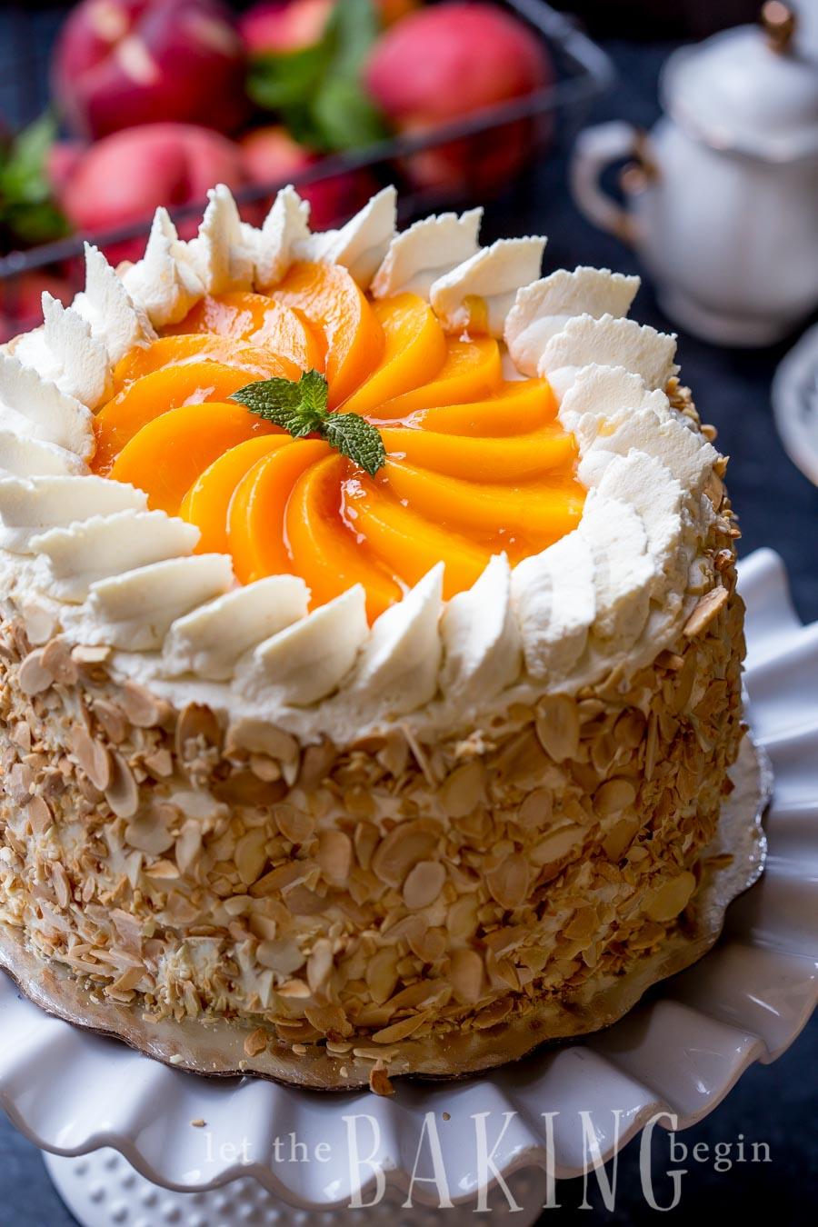 Peaches And Cream Cake With Cake Mix