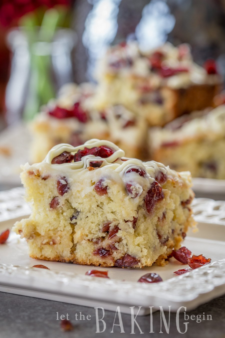 Cranberry White Chocolate Coffee Cake