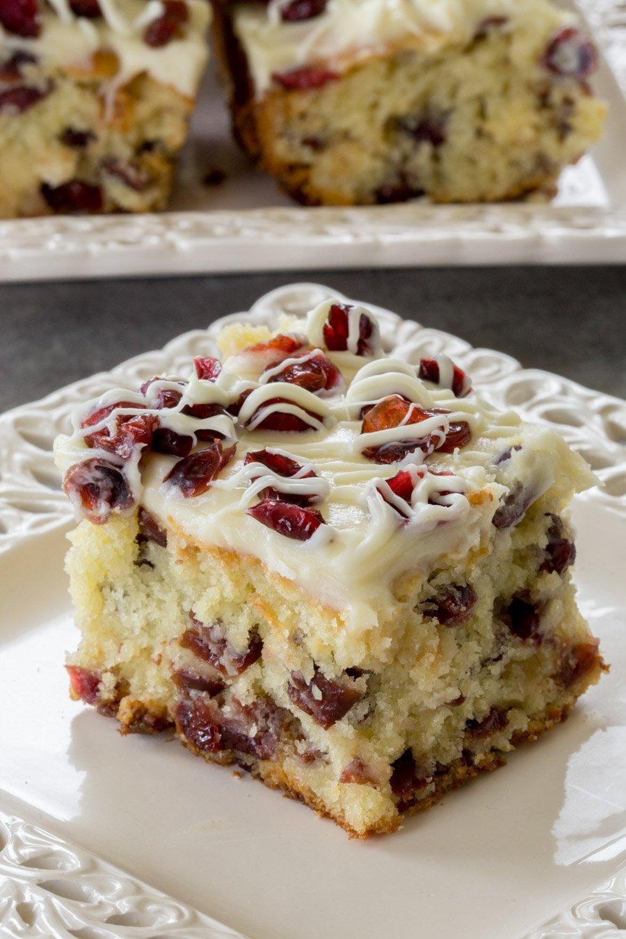 Dried Cranberry Sour Cream Coffee Cake