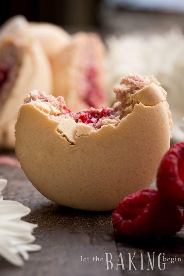 Raspberry Macarons - Italian Meringue method of making Macarons, filled with luscious raspberry buttercream | Let the Baking Begin!