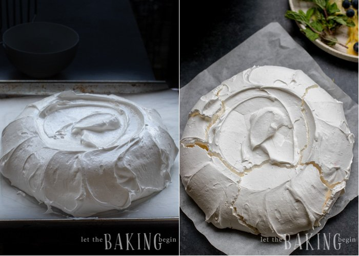 Pavlova Cake is light as air, fluffy as the softest pillow, absolutely delightful meringue dessert that combines, marshmallowy pavlova cake, fluffy whipped cream and berries that come together into a delicious and simple and easy dessert.