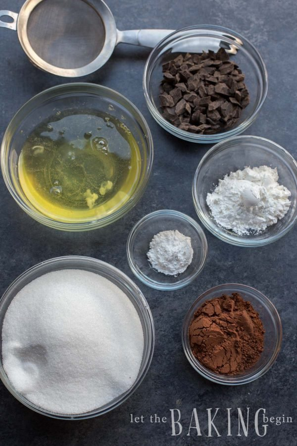 Ingredients for the Chocolate Pavlova
