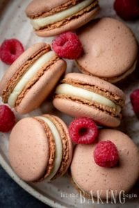 White Chocolate Raspberry Macarons