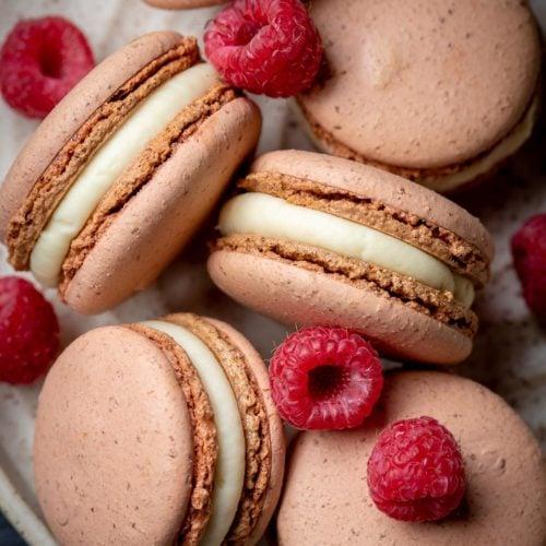 White Chocolate Raspberry Macarons