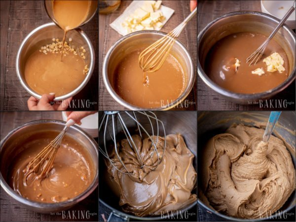 Making the Coffee Ganache macaron filling, step by step.