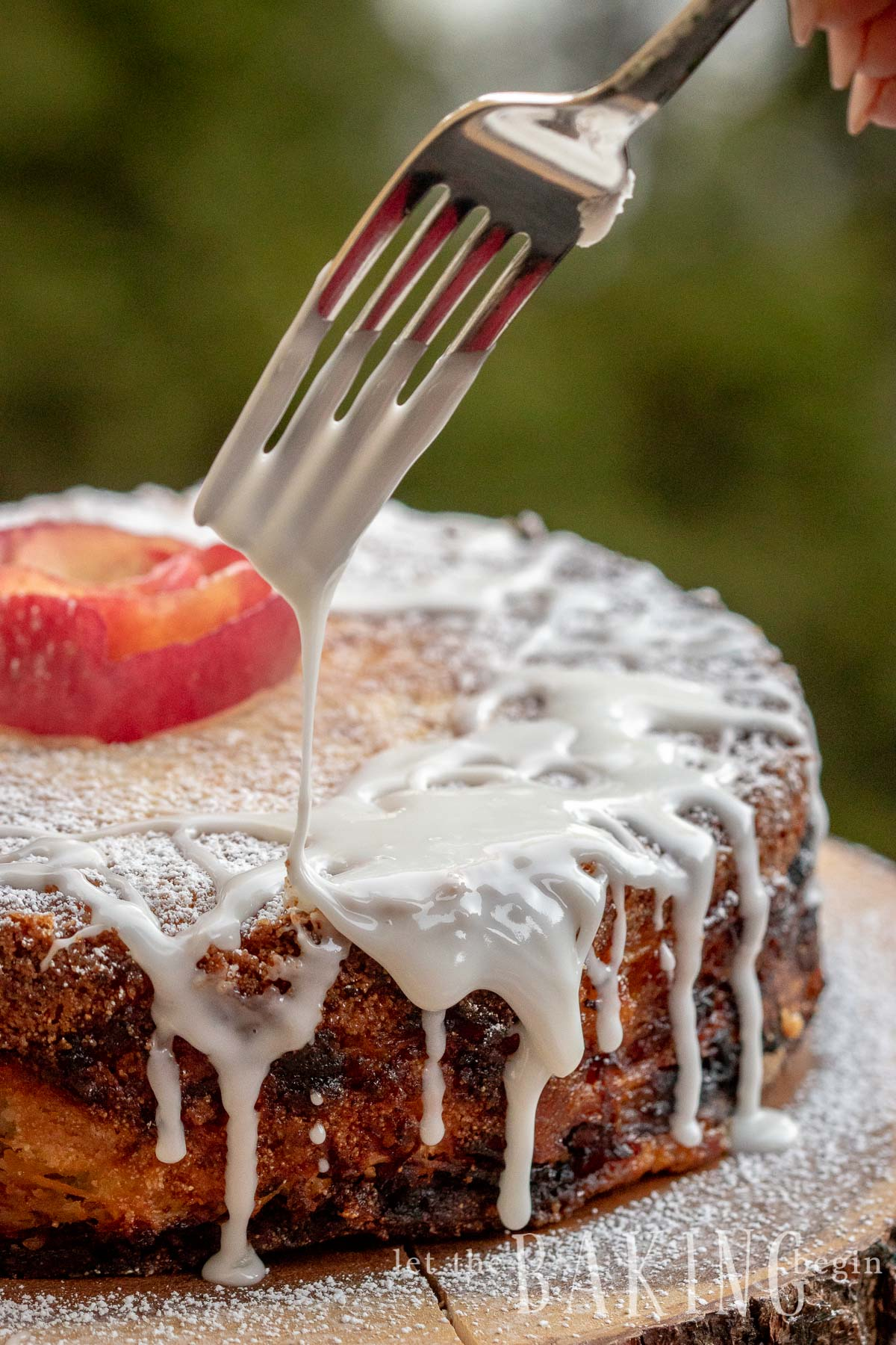 Quick Apple Cake is a version of the Apple Dump Cake where the dry ingredients are layered with shredded apples before being baked together into a layer apple cake. This is the perfect fall coffee cake that's quick, easy and tastes perfect with a cup of hot tea after on busy weeknight.