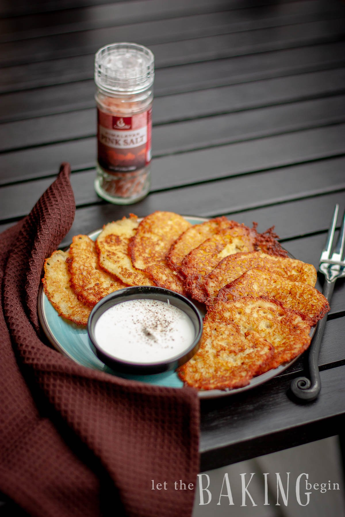 Potato Latkes or Draniki as Russians call them are pancakes made of finely shredded potatoes, egg, and some flour. They are delicious served with some sour cream or applesauce. Make sure to double the recipe, if you're making them for a family, that is if you want to get a taste too ;)