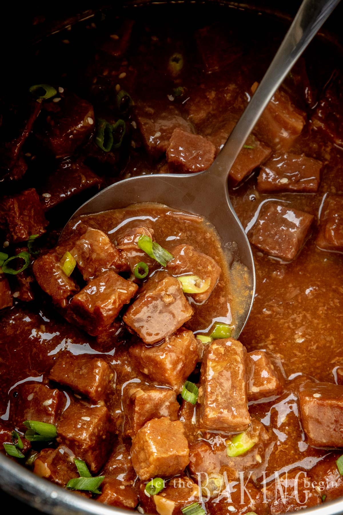 Quick and Easy Korean Beef is made by tossing all ingredients for the sauce together, then adding the cubed beef and cooking together in an Instant Pot until soft. This Asian style beef recipe is perfect for busy weeknight dinner when all you want is eat, not fuss over the stove.