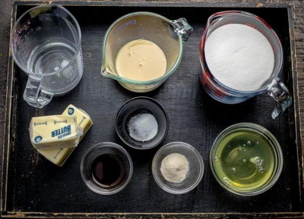 Ingredients for making Homemade Marshmallows or Pichye Moloko (Bird's Milk)