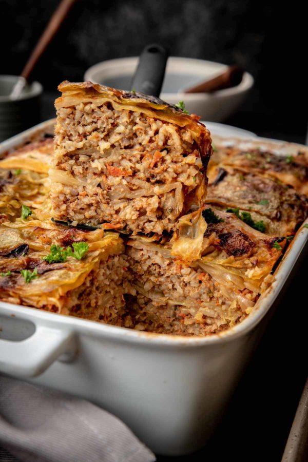 Unstuffed Cabbage Roll Casserole Let The Baking Begin
