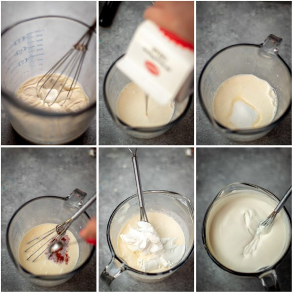 Visual step by step directions for how to make panna cotta