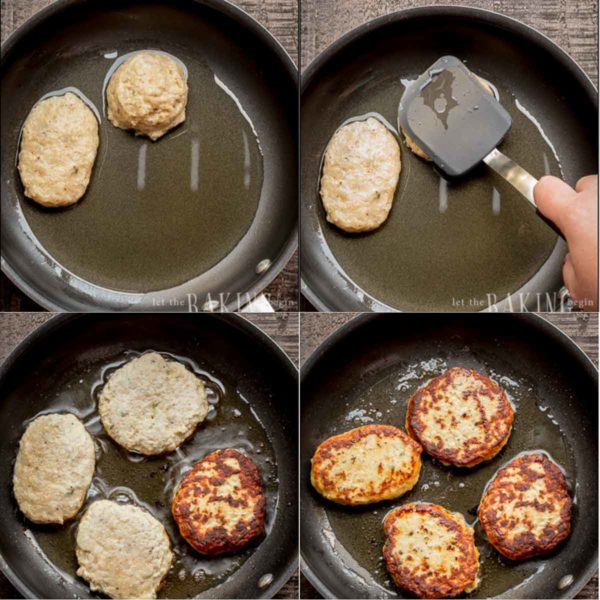 Step by Step for how to make chicken sausage, shape them and cook properly.