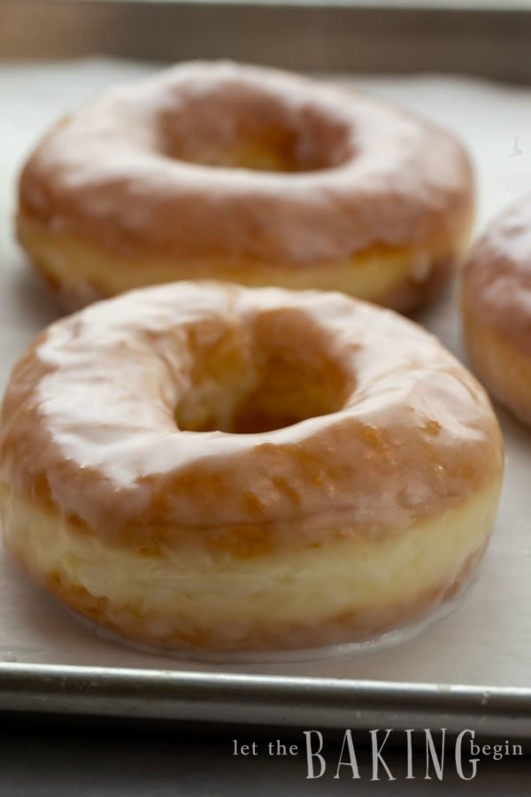 close up of donuts made from a krispy kreme donut recipe