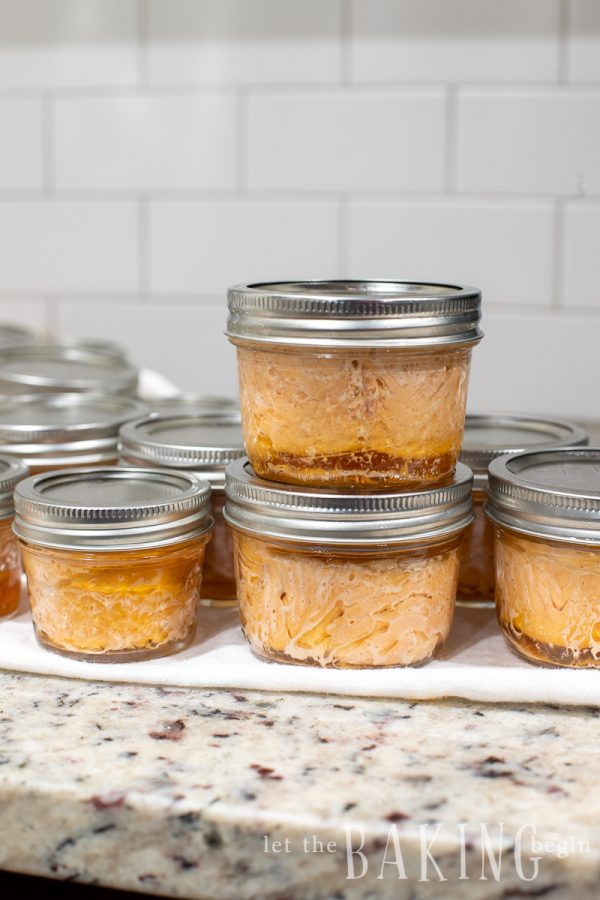 Stack of a prepared canned salmon recipe