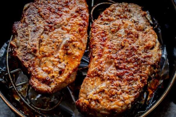 2 air fryer pork chops