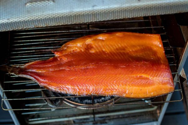 How to smoke salmon - finished fish