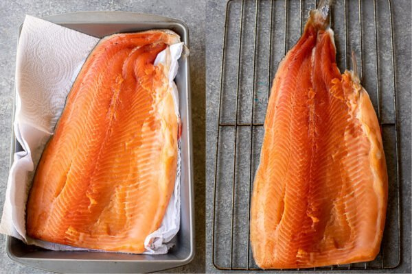 How to smoke salmon with the pellicle