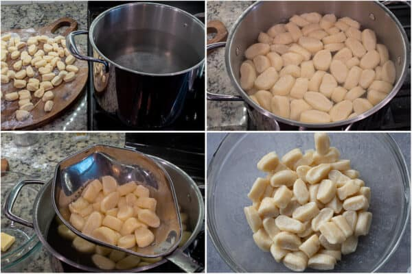 Step by step process of cooking the lazy pierogi.