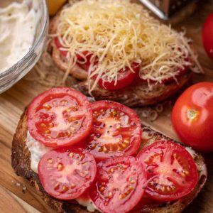 Tomato Toast is simple, quick, but such a delicious appetizer or lunch!